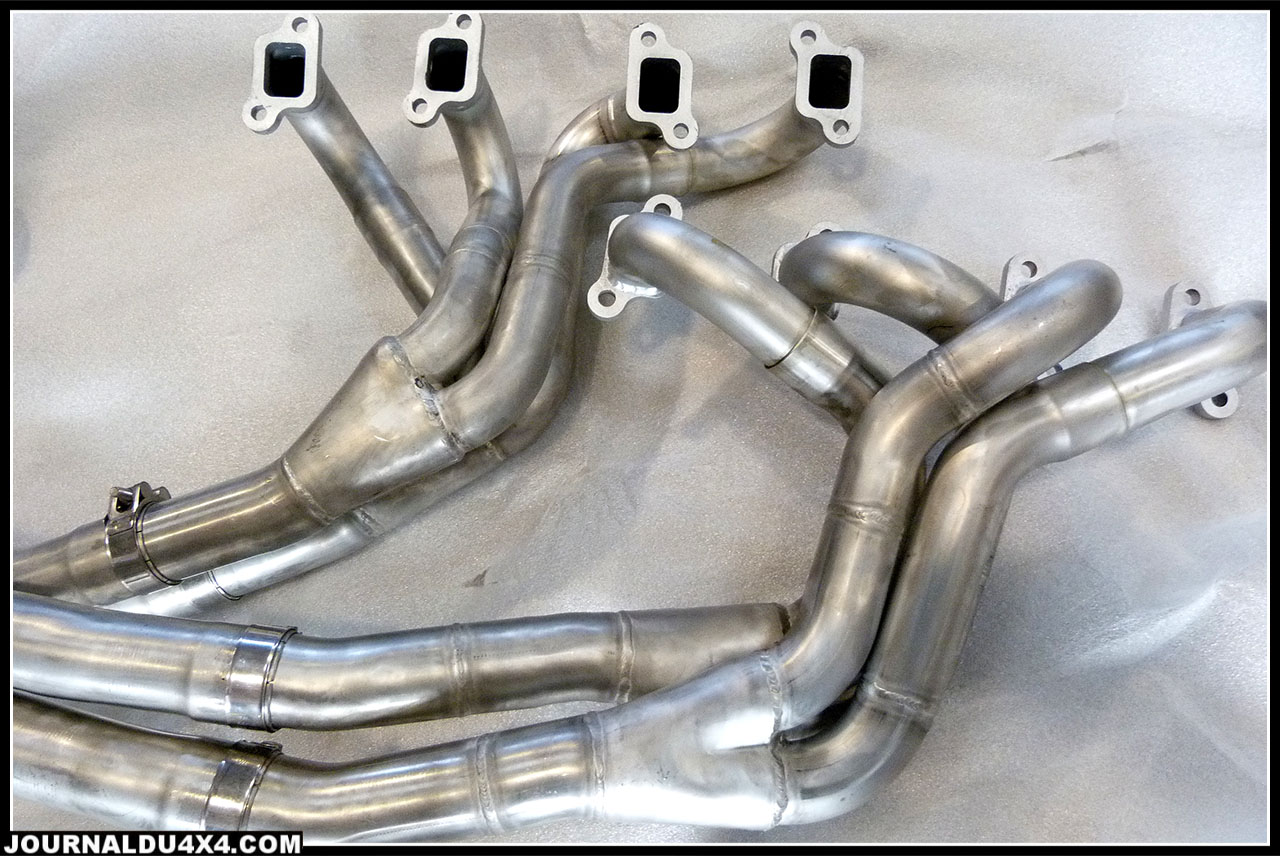 Collecteur inox V8 range rover 5.0l 4.6l, 3,5l, 3.9l, 4.0l 4.2l