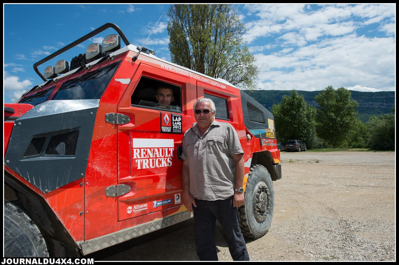 Le responsable du terrain côtoie plus souvent les camions de Renault Truck que les proto mais il est néanmoins ravi de recevoir les Pirates sur son terrain