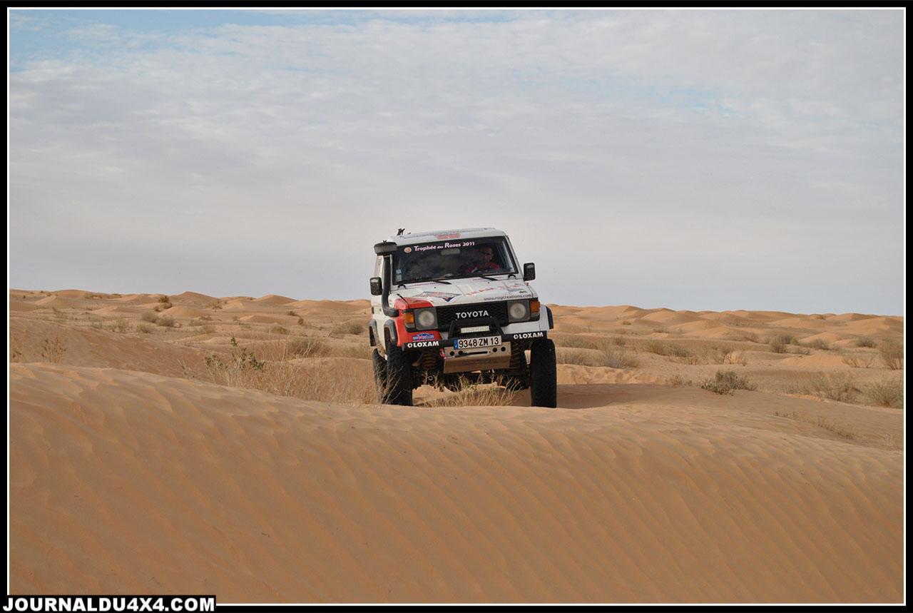 passage dans de petites dunes près du parc national de Jebil