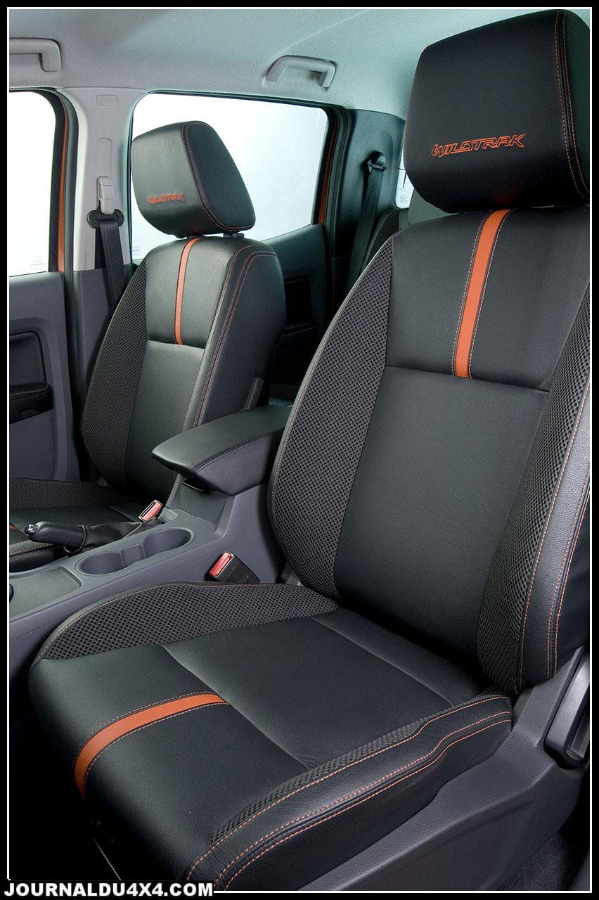 La finition Wildtrack s'affiche au-dessus du lot avec par exemple la climatisation avant séparée, des sièges cuirs à commandes électriques et l'ensemble des standards luxes du multimédia.