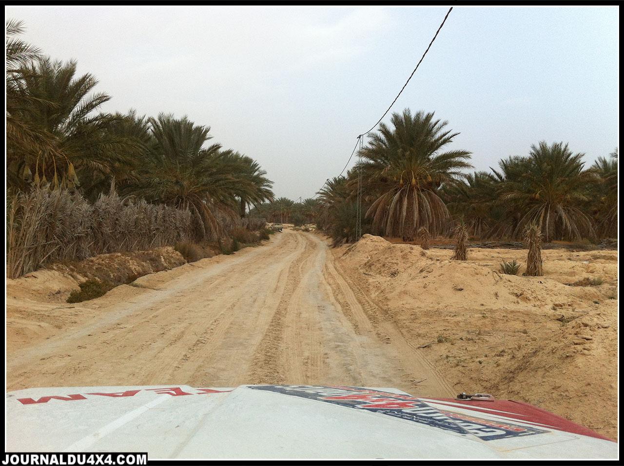 notre GPS nous donnait l'information que nous étions sur une route, si, si, je vous le jure!!!