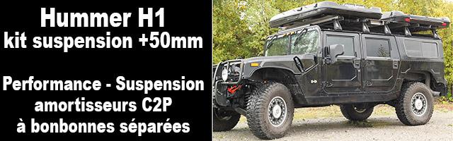 Suspension Hummer H1 : C2P crée la différence