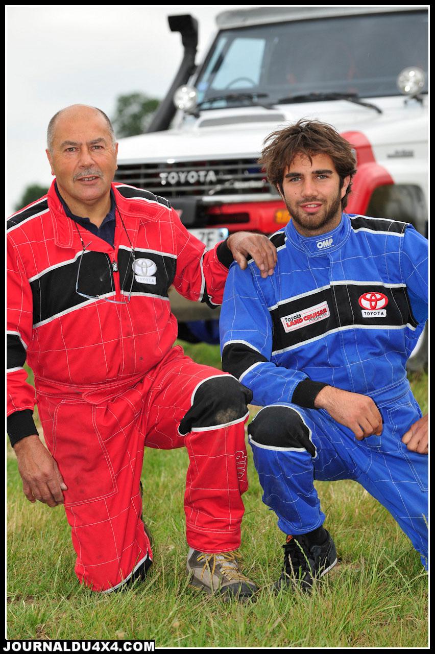 Claude et Nikolas Hue. Dans l'atelier HC 4x4 situé à Villeneuve- la- Lionne (51), on ne conçoit pas de travailler autrement qu'en famille. Fondus de mécanique et de sport? C'est ici génétique!