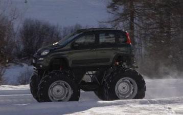 Fiat Panda 4×4 monster