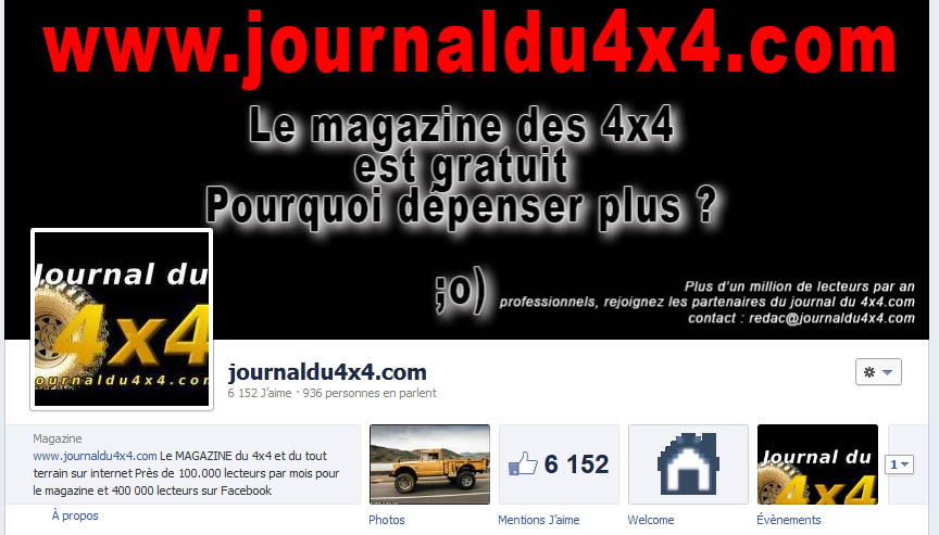 La page facebook du journal du 4×4