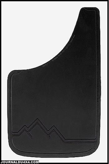 Bavette caoutchouc noire 28 x 48 cm
