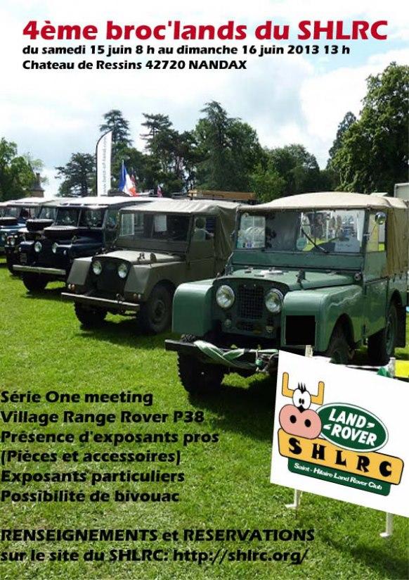 SAINT HILAIRE LAND ROVER CLUB organise sa «BROC'LAND» 15-16 Juin 2013