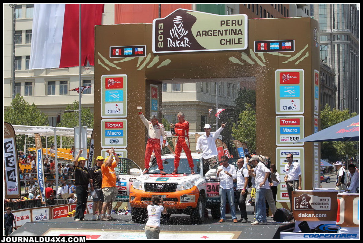 Race2Recovery Toyota Land Cruiser T2 + Cooper Discoverer S/T MAXX = victoire de classe au Dakar