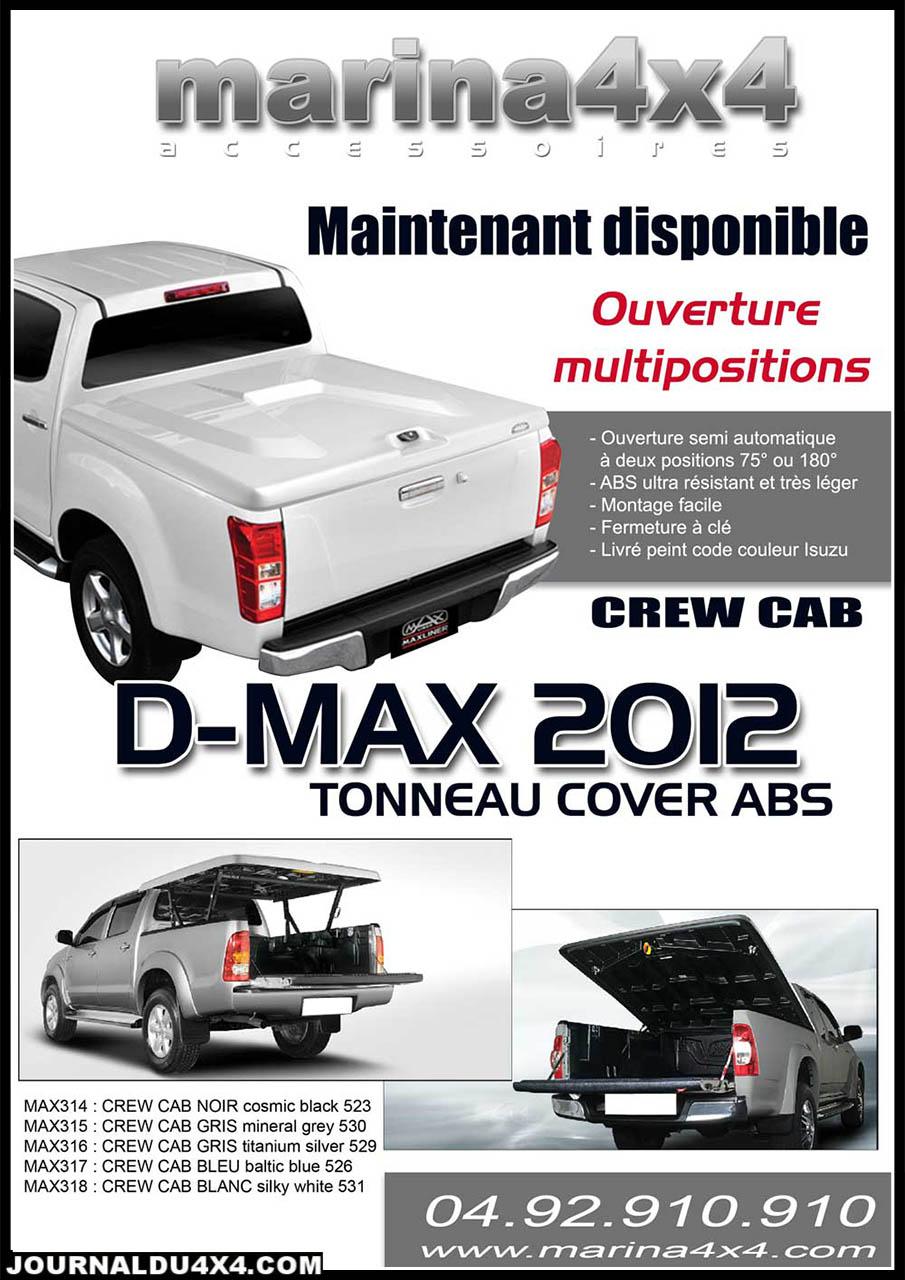 Tonneau cover DMAX ABS multiposition