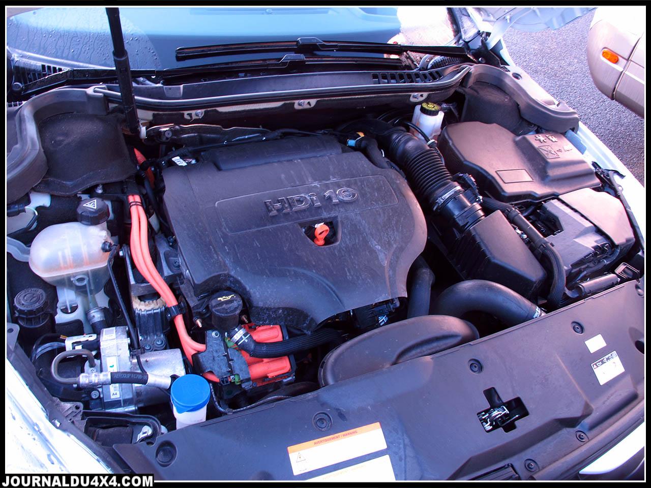 Moteur   508 RXH   : 4 cyl. En ligne HDI 1997 cm3 + moteur électrique de 27Kw