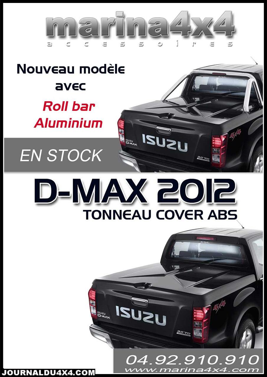 Tonneau cover DMAX ABS avec ou sans roll bar