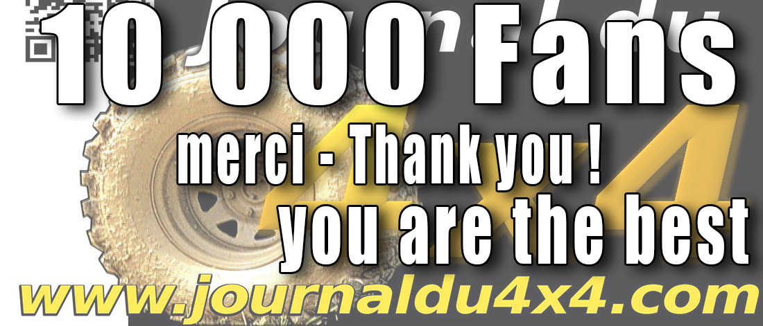 Journal du 4×4 10 000 Fans sur Facebook