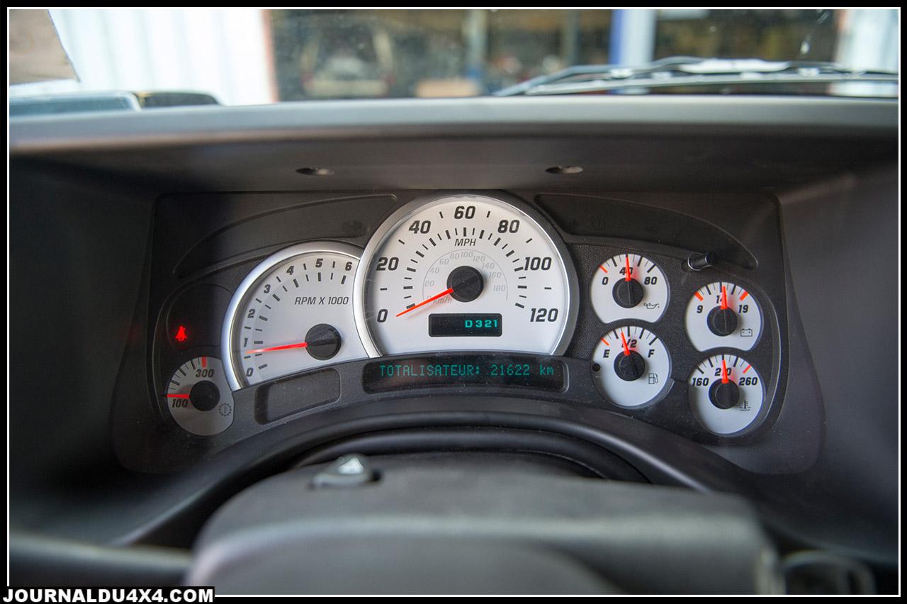 aux USA le Hummer H2 est bridé à la vitesse de 150 km/h en france il peut atteindre 175 km/h