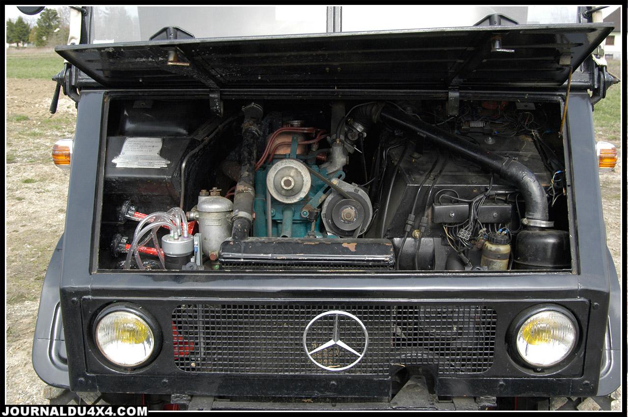 Le moteur OM 636 dans son environnement. Autant dire que l'autoradio est inutile, à 2550 tours/minutes on ne s'entend plus