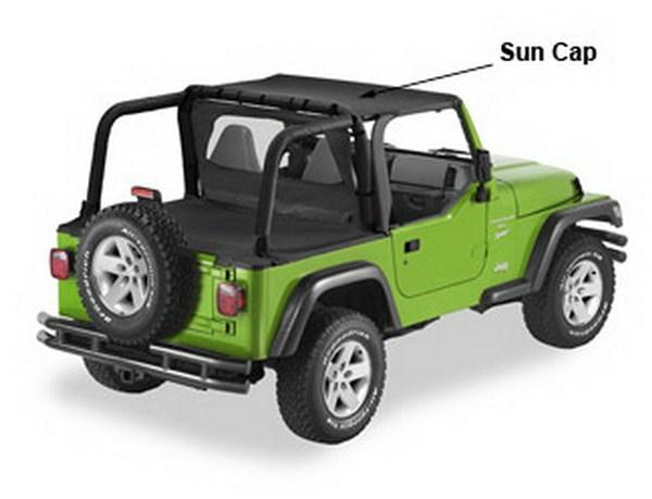 Sun Cap Noir Jeep Wrangler TJ 2003 – 2006