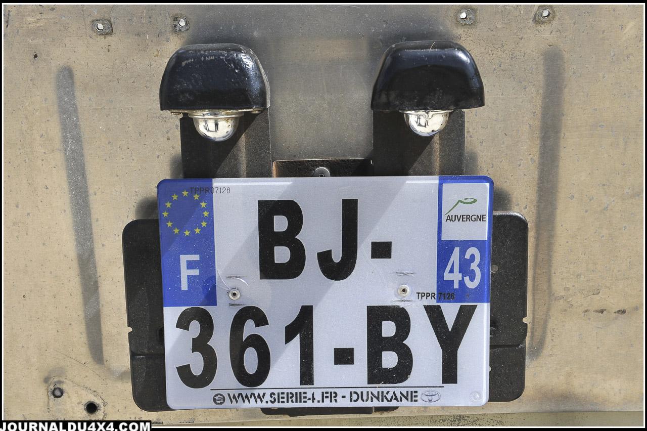 Plaque « personnalisée » du BJ 43 de Guillaume !