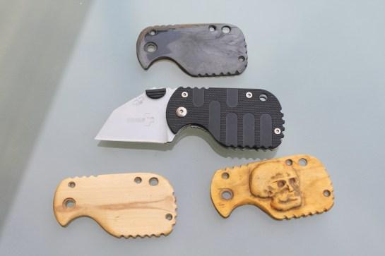 Plaquette pour Boker+ Subcom/Wharcom Kit seul 30€ Avec couteau, monté 60€ Au choix: Fibre de carbone Houx Buis sculpté