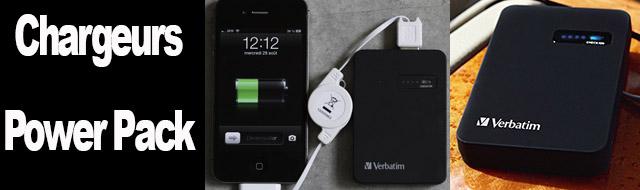 Chargeurs Power Pack : une batterie qui recharge votre smartphone