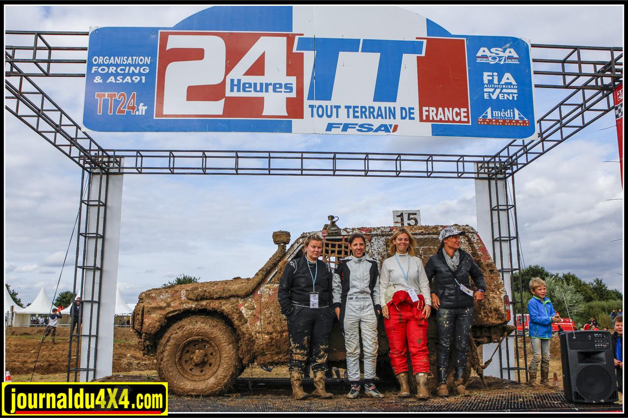 22e au classement final — Cécile Douchez, Nadège Obœuf, Adeline Jallet et Nathalie Lecoultre s'adjugent la prestigieuse Coupe des Dames sur le Nissan Patrol du team Clamens.