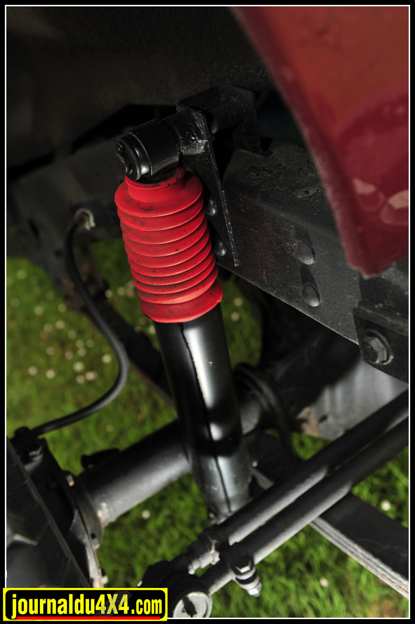 Les suspensions, une simple rehausse s'adaptera parfaitement à la nouvelle monte pneumatique