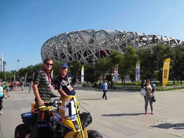 le lancement du China Grand Rally se fera au pied du « Nid d'oiseaux »
