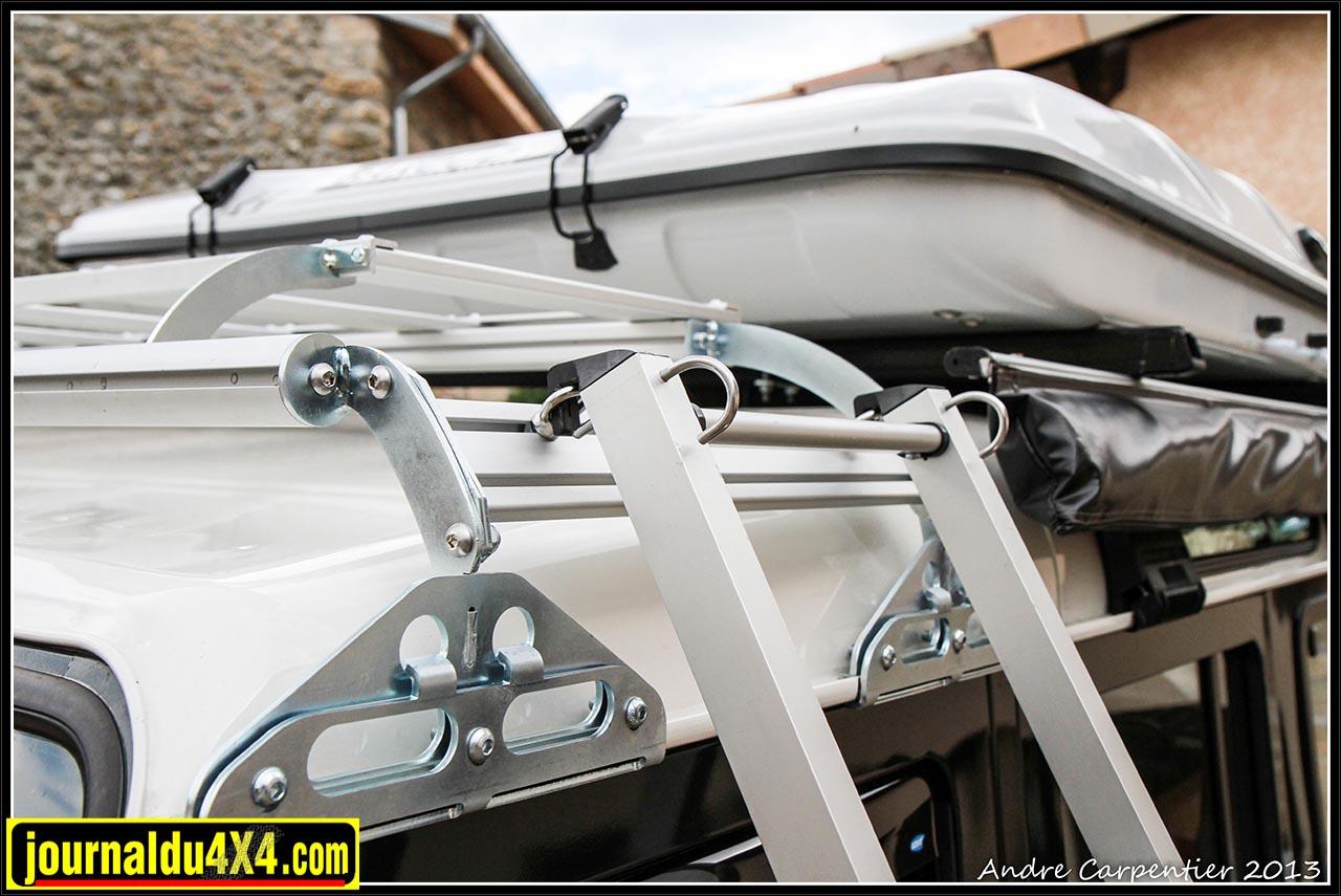 galerie pour DEF 110 avec tente de toit ou 110 à toit relevable