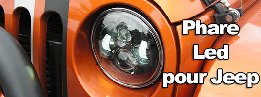 Phares Led pour Jeep