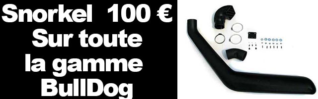 Snorkel 100 € chez Bulldog