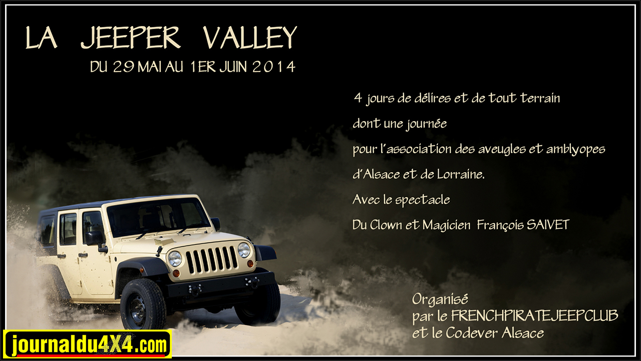 Jeeper Valley 2014 29,30,31mai et 1 juin