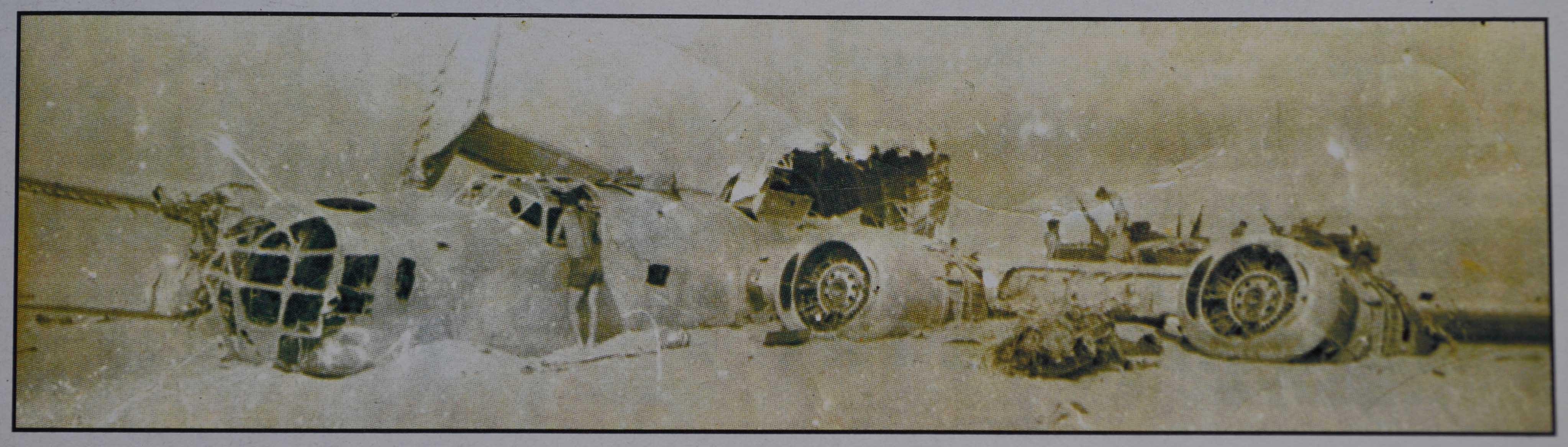 """Cette photo d'un bombardier Liberator donna naissance à la légende du """"Sand pink"""", camouflage des futurs véhicules des SAS."""
