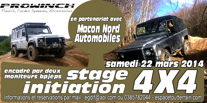 Stage initiation 4×4 tout terrain 22 mars