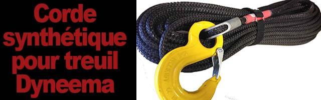 Corde pour treuil Dyneema : la corde synthétique qui révolutionne le câble de treuil