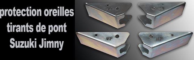 Kit protections d'oreilles de tirants Jimny Masterforest