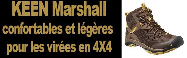 KEEN Marshall, chaussures confortables et légères idéales pour les virées en 4X4