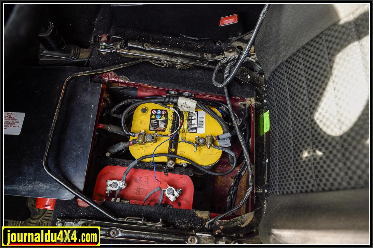 deux batteries pour le Defender