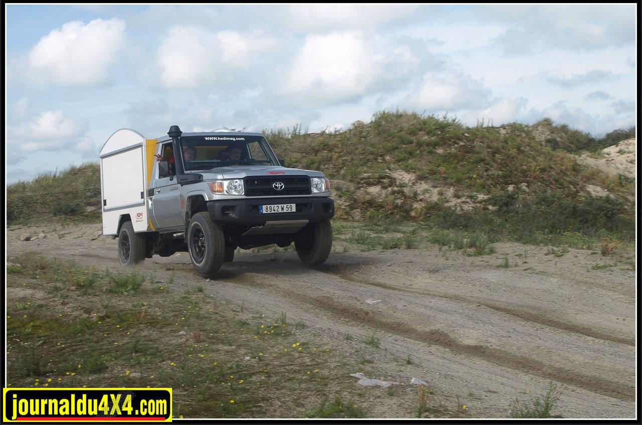 Lors des premiers essais sur le terrain de Loon-Plage dans le nord de la France