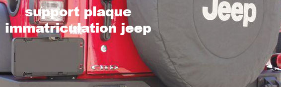 Jeep Support de plaque d'immatriculation JK