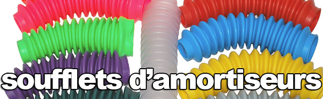 Soufflets d'amortisseur multicolores