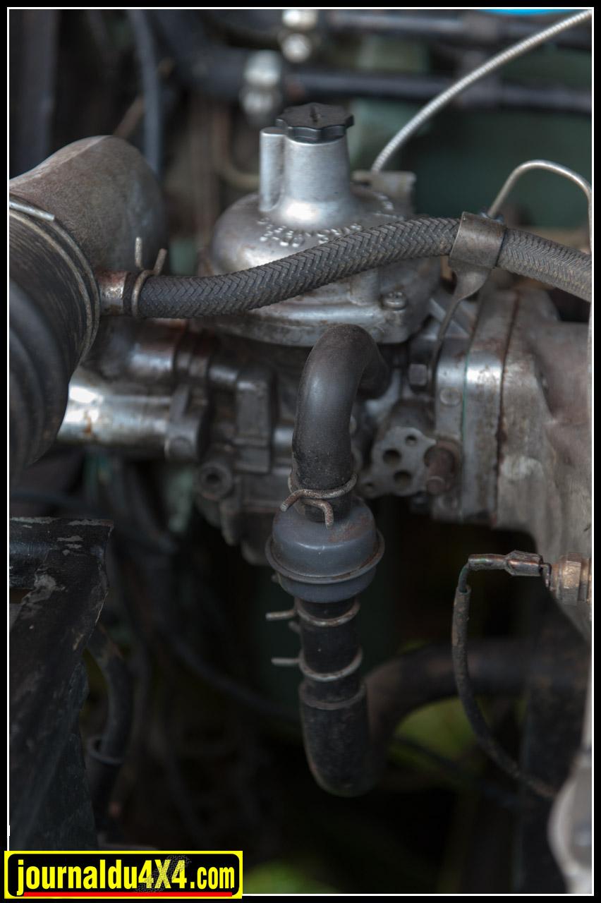 Détail de la pompe à eau