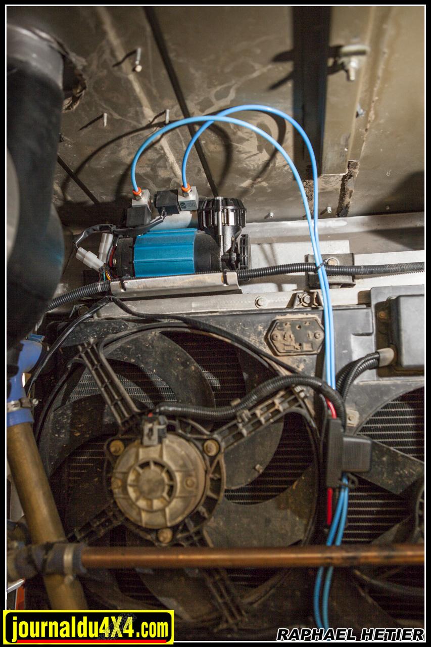 Le compresseur ARB est situé dans la benne