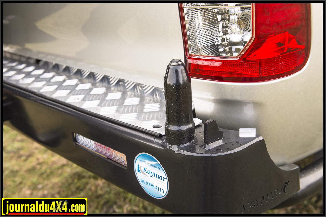 ce pivot permet d'installer un deuxième support pour roue de secours ou un porte jerrycan