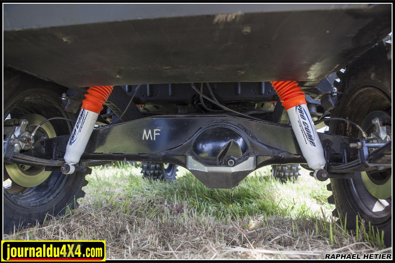 amortisseurs procomp - coquille de pont - pont renforcé - kit freins à disque séparés