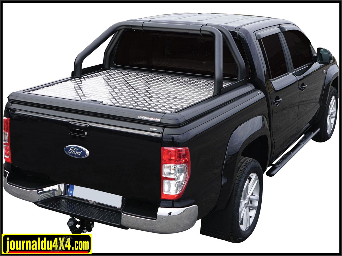 Tonneau cover alu + Roll bar noir Double tube