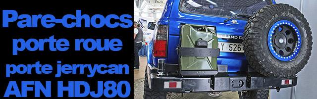 pare-chocs arrière avec porte-roue et porte-jerrycan pour HDJ80
