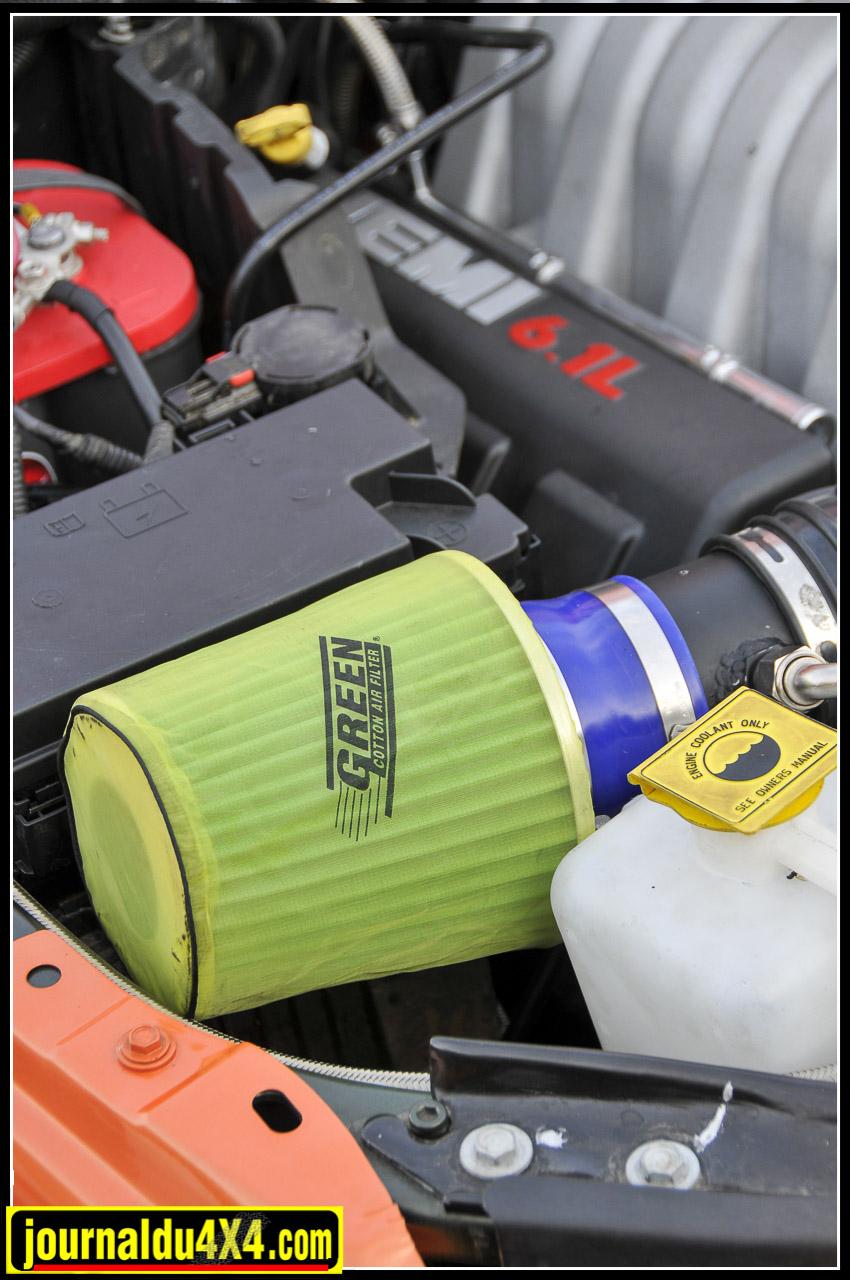 """Filtre Green et sa """"Chaussette"""" filtrante spécial sable de rigueur pour donner du souffle au V8."""