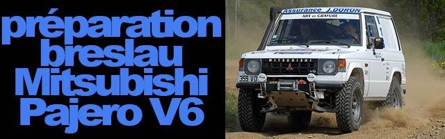 préparation breslau : Mitsubishi Pajero V6