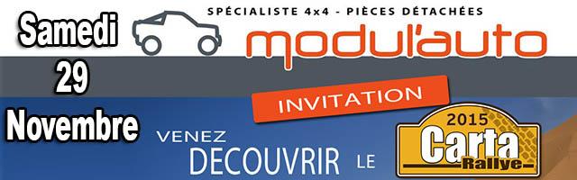 Carta Rallye 2015 présentation chez Autoventure – Modulauto