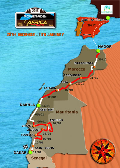 parcours africa eco race 2015