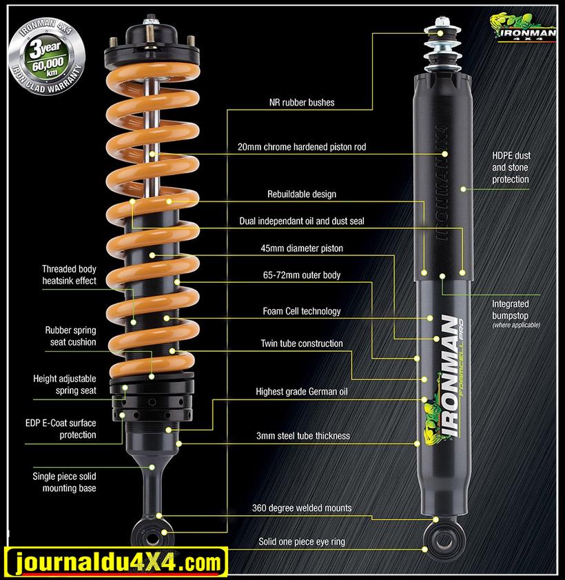 Ironman4x4 Foam Cell Pro nouveaux amortisseurs
