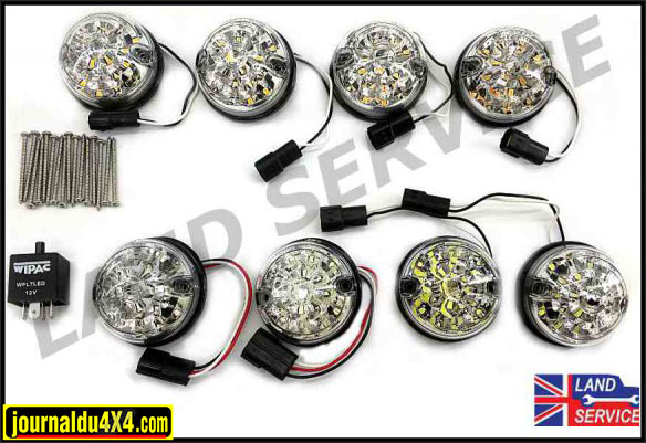 kit feux à LED blanc pour Defender